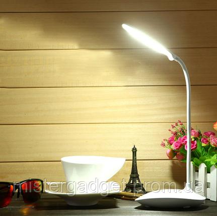 Настольная лампа с аккумулятором CMD-8806 Cенсорный светильник 20LED Розовая, фото 2