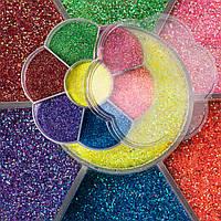 """Песок в контейнере, цветной """"Цветок"""""""