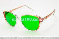 Глаукомные очки (зеленые стеклянные линзы)