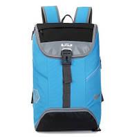 Спортивный рюкзак Nike голубой с серыми вставками (реплика)