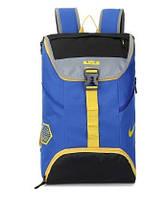 Спортивный рюкзак Nike синий с желтыми вставками