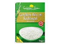 GOLDEN SUN длиннозерный рис в мешочках для приготовления, 1 кг