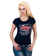 Футболка женская Британия синяя