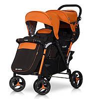 Детская прогулочная коляска для двойни FUSION electric orange - EasyGO Польша