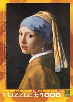 """Пазл """"Девушка с жемчужной серёжкой"""" Ян Вермеер, 1000 элементов, EuroGraphics"""