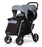 Детская прогулочная коляска для двойни FUSION grey fox - EasyGO Польша