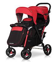 Детская прогулочная коляска для двойни FUSION scarlet - EasyGO Польша