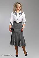 Стильная серая юбка батального размера  2005 Seventeen  52-58  размеры