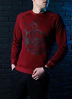Мужской СВИТШОТ Pobedov sweatshirts Bike (Байк, Красный) Red 🔥