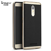 TPU Силикон iPaky TPU+PC для Xiaomi Redmi Note 3 / Redmi Note 3 Pro Black / Gold (черный / золотой)
