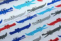 Детское постельное белье Крокодилы синие (100% хлопок)