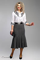 Стильная темно-серая юбка батального размера  2004 Seventeen  52-58  размеры