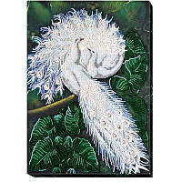 Набор для вышивки бисером на холсте «Белоснежный символ счастья»