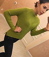"""Модный, женский свитер отличного качества """"Ассиметричный низ"""" Фабричный Китай! РАЗНЫЕ ЦВЕТА"""