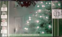Гирлянда 80 ламп-шариков зелен Светодиодов LED 4м