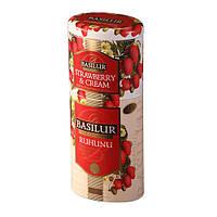 Чай черный Basilur коллекция Цветы и фрукты Цейлона Клубника с кремом (75+50)г
