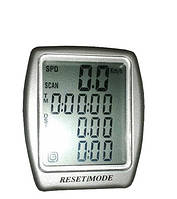 Велокомпьютер, спидометр ASSIZE AS - 411 проводной (11 режимов)