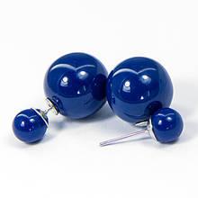 Серьги-гвоздики Акриловые, Цвет: Синий, Размер: 16и8мм, Штифт: 0.8мм, (УТ100006393)