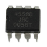 Чип JRC4558D DIP8 операционный усилитель 2-канальный