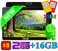 """СУПЕР! Игровой Планшет-Телефон ASUS 10"""" 8 Ядер 16GB (Android 5.1) + Чехол + Игры"""