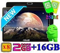 """Мега! Игровой Планшет-Телефон-GPS ASUS 10"""" 8 Ядер 16GB (Android 5.1) + Чехол + Игры"""