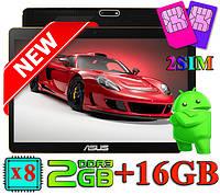 """БЫСТРЫЙ КАК Ferarri !!! Игровой Планшет-Телефон-GPS ASUS 10"""" 8 Ядер 16GB (Android 5.1) + Чехол + Игры"""
