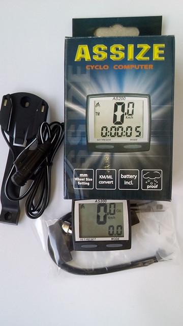 Велокомпьютер, спидометр ASSIZE AS200 проводной (11 режимов)