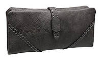 Модный женский кошелек TZ1453-1 dark grey