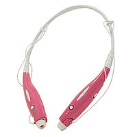 Стерео Bluetooth гарнитура LG HBS-730 розовая для пробежек и занятий спортом к планшету телефону таблету