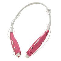 Стерео Bluetooth гарнитура розовая HBS-730 для пробежек фитнеса iphone android планшета телефона таблета