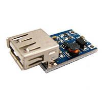 Повышающий преобразователь напряжения DC-DC 0.9-5В на 5В + USB-разъем