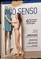 Женские колготки Mio Senso без шортиков с 3D поясом Naked Beauty 40 den