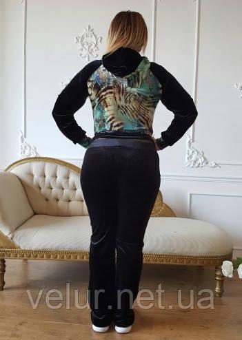 d21e6a6a ... Велюровый женский спортивный турецкий костюм EZE купить большие размеры  50,52,54,56 ...