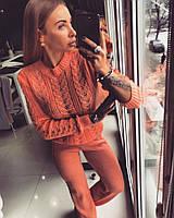 """Женский, вязаный, костюм со штанами и свитером """"ELITA"""" шерсть с акрилом. КАЧЕСТВО СУПЕР!"""