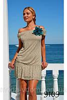 Гипюровое платье с трикотажной подкладкой