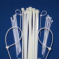 Хомут пластиковый 2.5 х 150. Цвет: белый / черный UNIFIX (упаковка - 100 шт)