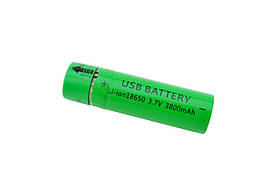 USB Аккумулятор Li-ion 18650, 3,7В 3800mAh