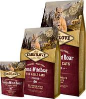 Сухой корм Carnilove Cat 0,4 kg Lamb & Wild Boar - Sterilised (для стерилизованных кошек)