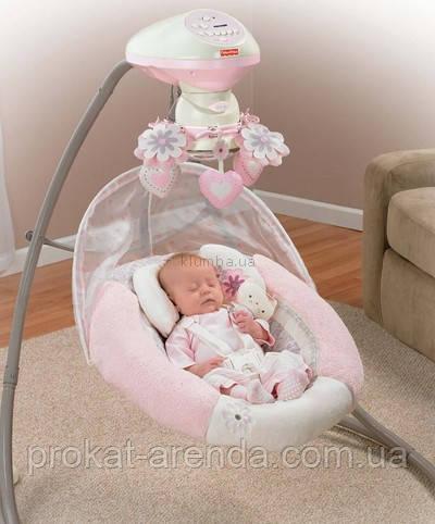 Укачивающий центр  или качели для новорожденных  Fisher Price Моя маленькая радость