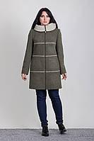 Пальто женское с капюшоном 2-438L Sergio Cotti