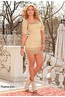 Атласное платье прилегающего силуэта