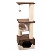 Karlie-Flamingo Surfer Brown Beige когтеточка игровой комплекс для кошек, с домиком и мячиком, коричнево-бежевый, 40х40х108см