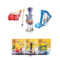 Karlie-Flamingo Bird Toy Music КАРЛИ-ФЛАМИНГО МЬЮЗИК игрушка для птиц, музыкальный инструмент с колокольчиками, 8см