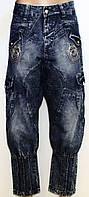 Капри джинсовые для женщин р. 27-33   арт. 988-1 - 33