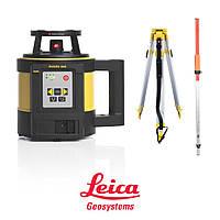 Лазерный нивелир Leica Rugby 840 RE180 + батарея и пульт дистанционного управления