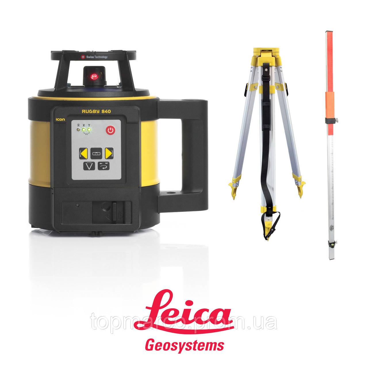 Лазерный нивелир Leica Rugby 840 RE180 + батарея и пульт дистанционног