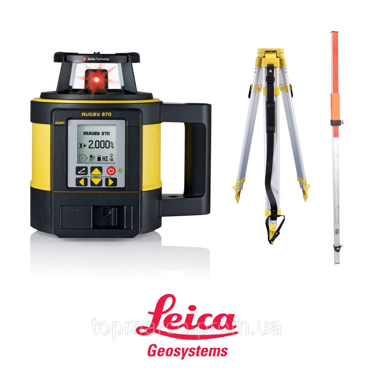 Лазерный нивелир Leica Rugby 870 RE160 батарея