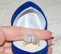 Кольцо TN681. Серебро 925. Swarovski crystals, размер 17 - ОПТ