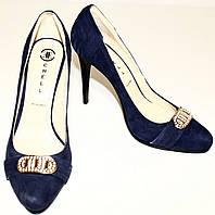 Туфли  из натурального замша для женщин р. 35 Черный арт. BC092086-56-1 - 36
