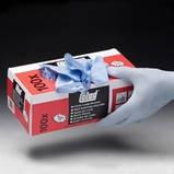 Рукавички нітрилові щільні сині (упаковка 100 шт), фото 2